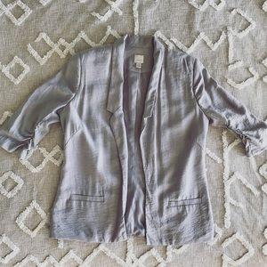 LC Grey 3/4 Sleeve Blazer